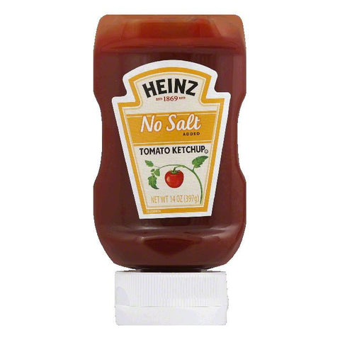 Heinz No Salt Added Tomato Ketchup, 14 Oz (Pack of 6)