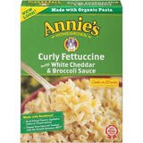 Annie's Homegrown Curly Fettuccine with White Cheddar & Broccoli Sauce 7.25 Oz  (Pack of 6)