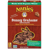 Annie's Homegrown Bunny Grahams Chocolate Whole Grain Graham Snacks 7.5 Oz  (Pack of 12)