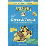 Annie's Homegrown Cocoa & Vanilla Gluten Free Bunny Cookies 6.75 Oz  (Pack of 12)