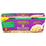 Annie's Homegrown White Cheddar Macaroni & Cheese 2-2.01 Oz Microcup (Pack of 6)