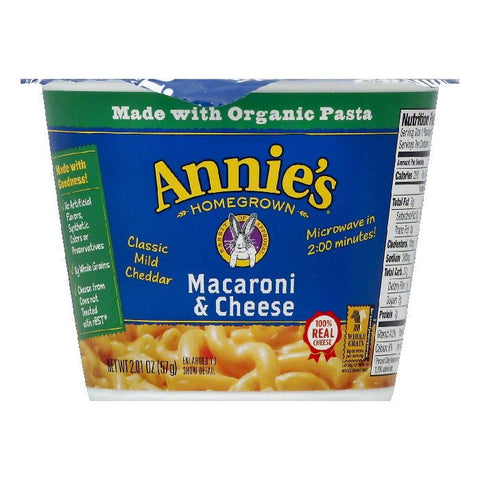 Annies Classic Mild Cheddar Macaroni & Cheese, 2.01 OZ (Pack of 12)