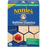 Annie's Homegrown Organic Saltine Classics Crackers 6.5 Oz  (Pack of 12)