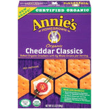 Annie's Homegrown Organic Cheddar Classics Crackers 6.5 Oz  (Pack of 12)