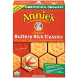 Annie's Homegrown Organic Buttery Rich Classics Crackers 6.5 Oz  (Pack of 12)