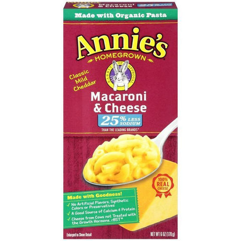 Annie's Homegrown Lower Sodium Macaroni & Cheese 6 Oz  (Pack of 12)