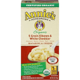 Annie's Homegrown Organic 5 Grain Elbows & White Cheddar Macaroni & Cheese 6 Oz  (Pack of 12)
