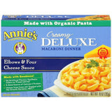 Annie's Homegrown Creamy Deluxe Elbows & Four Cheese Sauce Macaroni Dinner 10 Oz  (Pack of 12)