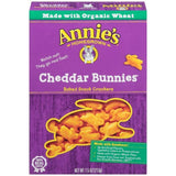 Annie's Homegrown Cheddar Bunnies Baked Snack Crackers 7.5 Oz  (Pack of 12)