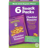Annie's Homegrown Cheddar Bunnies Baked Snack Crackers 6-1 Oz Snack Packs (Pack of 6)