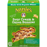 Annie's Homegrown Sour Cream & Onion Bunnies Baked Snack Crackers 7.5 Oz  (Pack of 12)