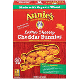Annie's Homegrown Extra Cheesy Cheddar Bunnies Baked Snack Crackers 7.5 Oz  (Pack of 12)