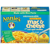 Annie's Homegrown Microwavable Gluten Free Mac & Cheese with Real Aged Cheddar 5-2.15 Oz Packets (Pack of 6)