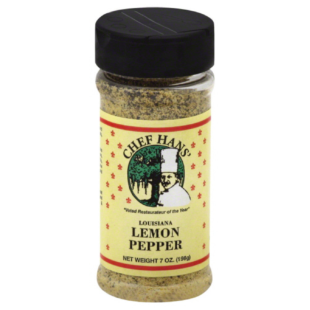 Chef Hans Louisiana Lemon Pepper, 7 Oz (Pack of 12)