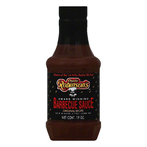 Charlie Robinsons Original Recipe Barbecue Sauce, 19 OZ (Pack of 12)