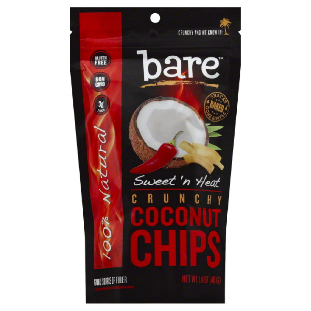 Bare Sweet N Heat Crunchy Coconut Chips, 1.4 Oz (Pack of 12)