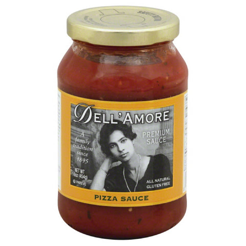Dell Amore Premium Pizza Sauce, 16 Oz (Pack of 6)