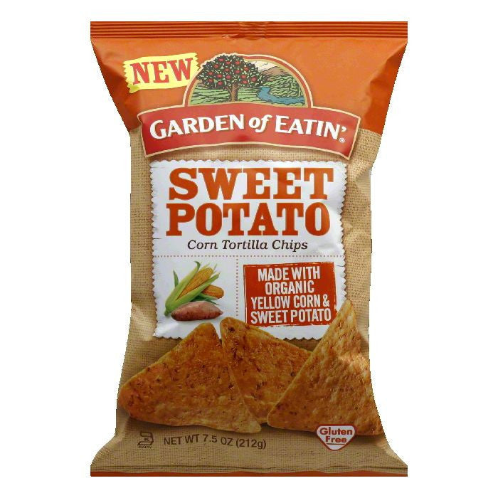 Garden of Eatin Sweet Potato Corn Tortilla Chips, 7.5 Oz (Pack of 12)