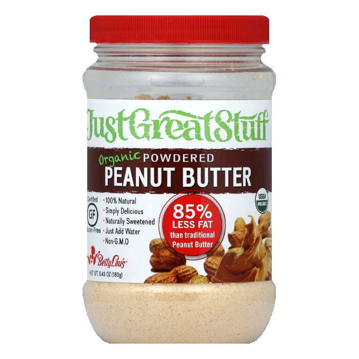 Just Great Stuff Powdered Organic Peanut Butter, 6.34 Oz (Pack of 12)