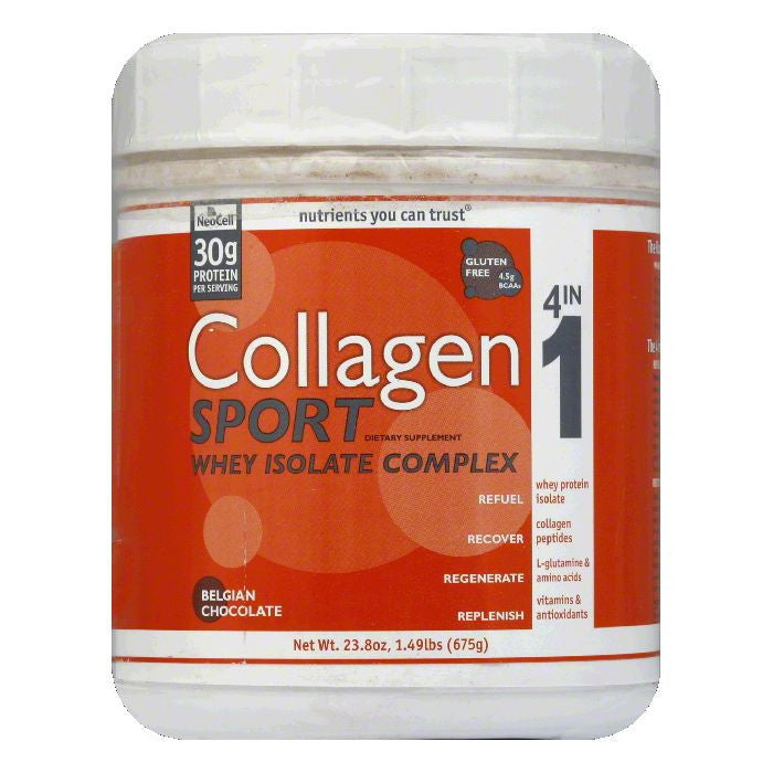 Neocell Belgian Chocolate Collagen Sport, 23.8 OZ
