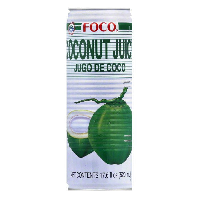 Foco Coconut Juice, 17.6 OZ (Pack of 24)