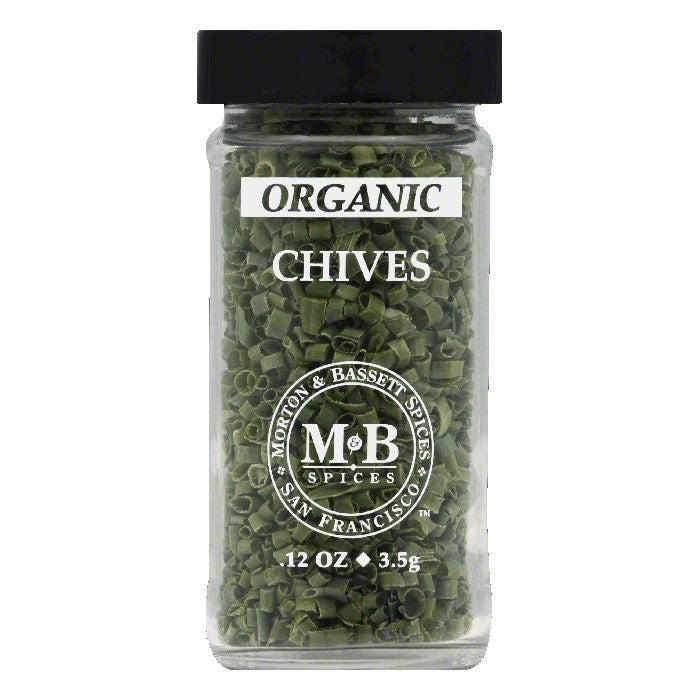 Morton & Bassett Organic Chives, 0.1 OZ (Pack of 3)