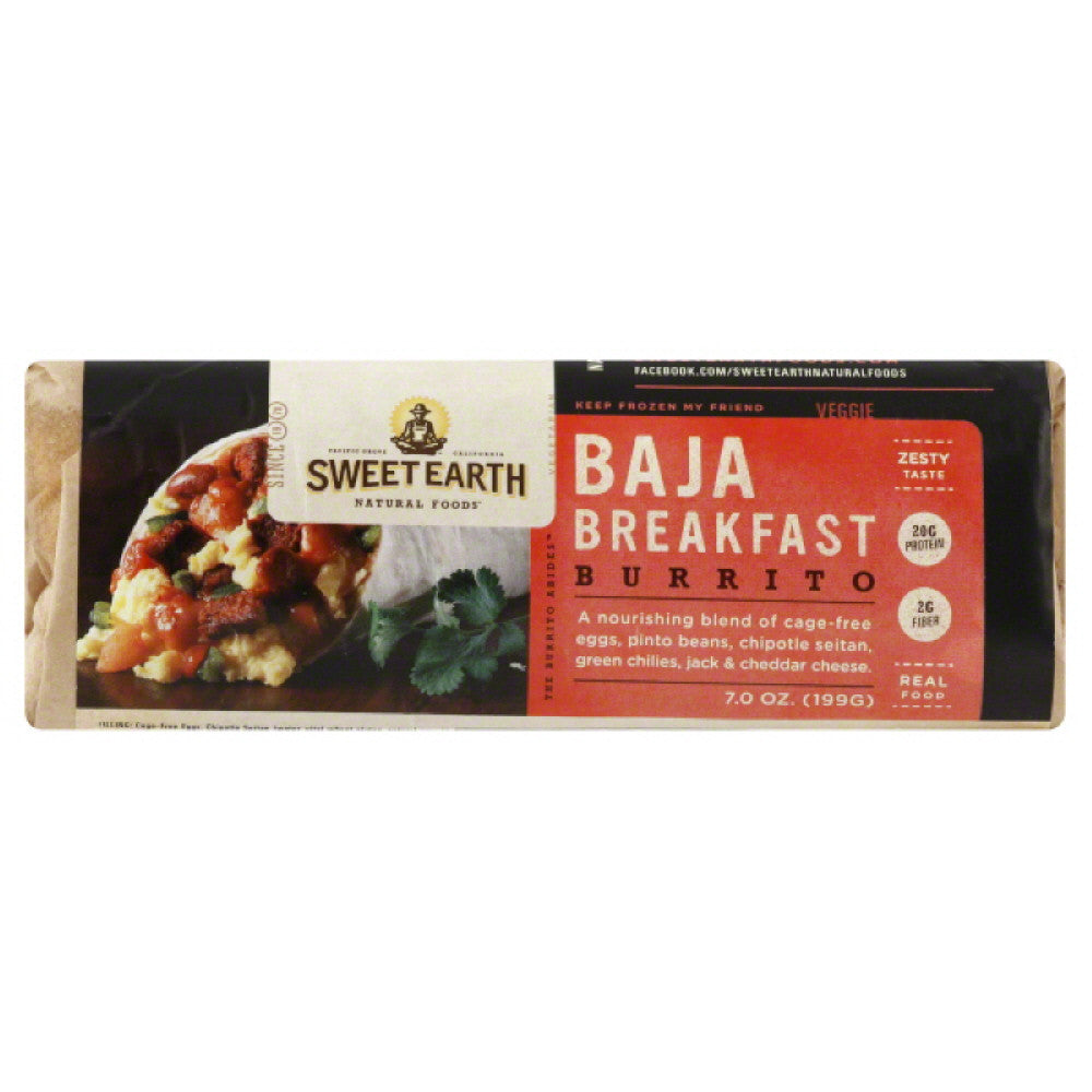 Sweet Earth Baja Breakfast Burrito, 7 Oz (Pack of 12)