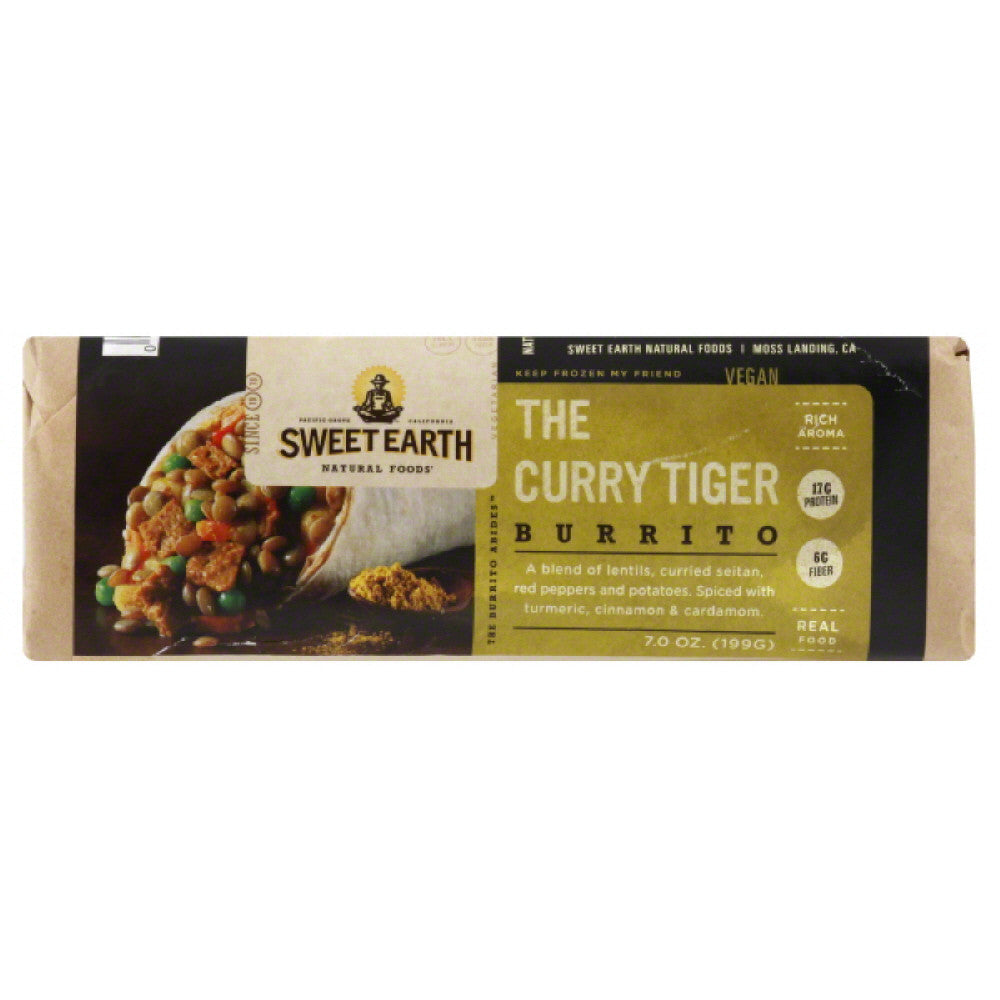 Sweet Earth The Curry Tiger Burrito, 7 Oz (Pack of 12)