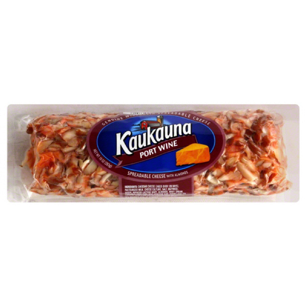 Kaukauna Port Wine with Almonds Spreadable Cheese, 10 Oz (Pack of 12)