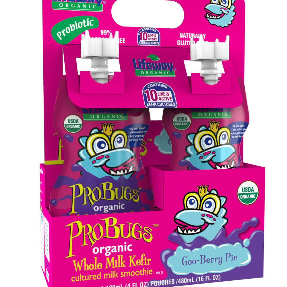 Lifeway ProBugs Goo Berry Pie,  16 Oz (Pack of 6)