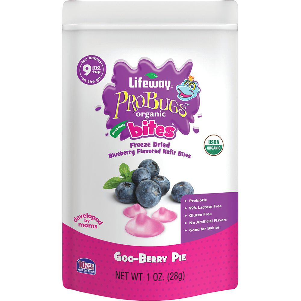 Lifeway ProBugs Organic Bites Goo Berry Pie, 1 Fo (Pack of 8)