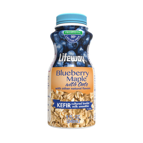 Lifeway Kefir with Oats Blueberry Maple - Single, 8 Oz (Pack of 12)