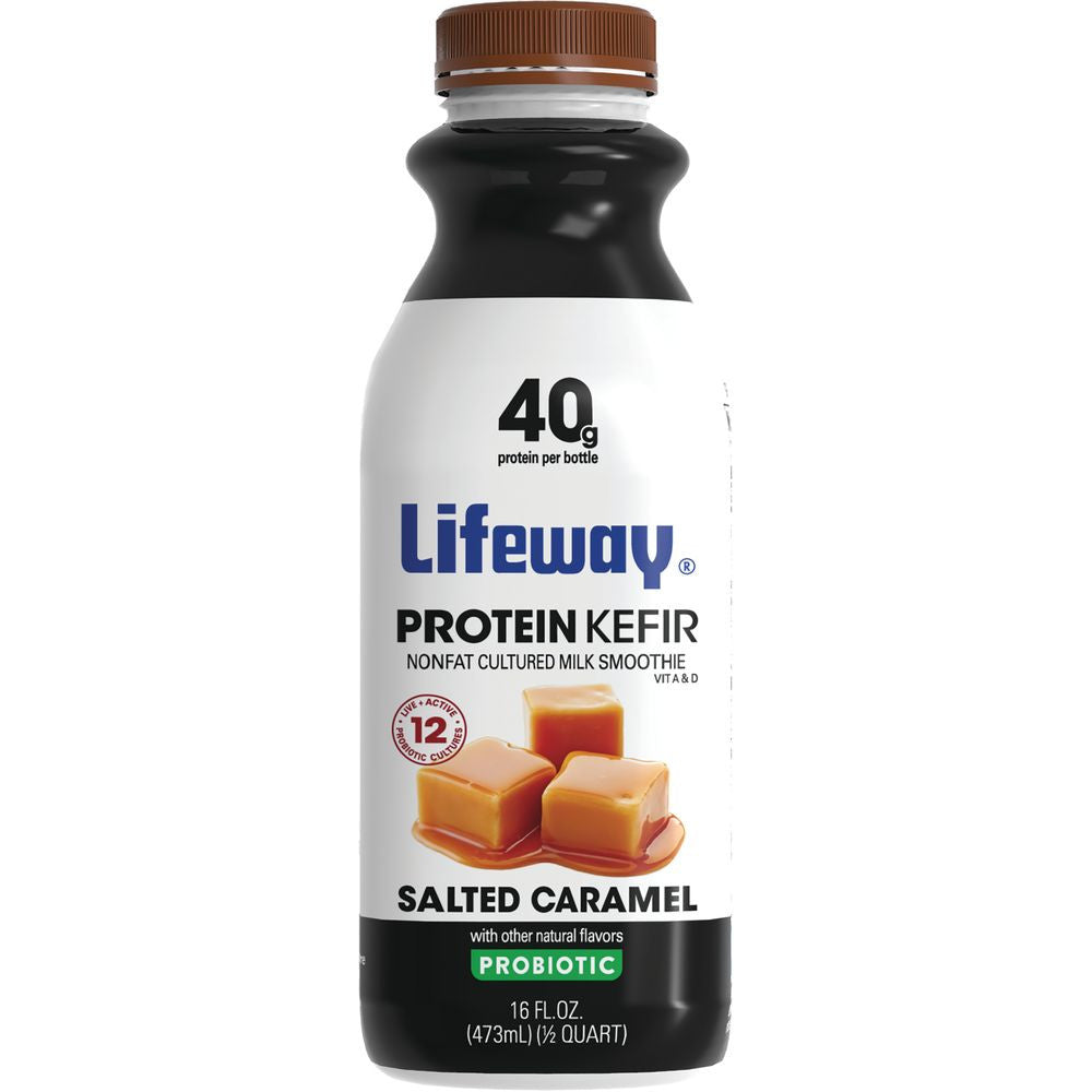 Lifeway Protein Kefir Salted Caramel, 16 Oz (Pack of 6)