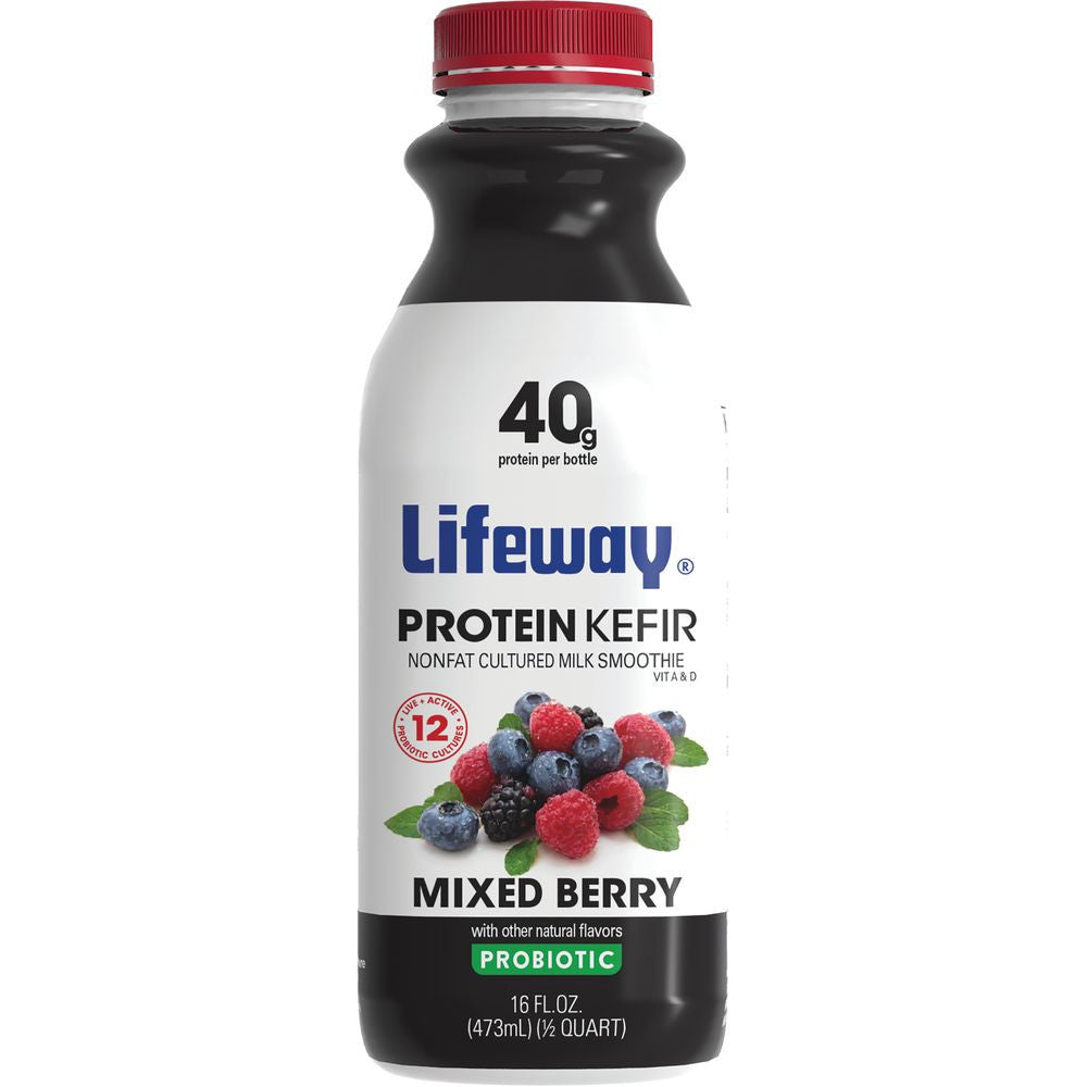 Lifeway Protein Kefir Mixed Berry, 16 Oz (Pack of 6)