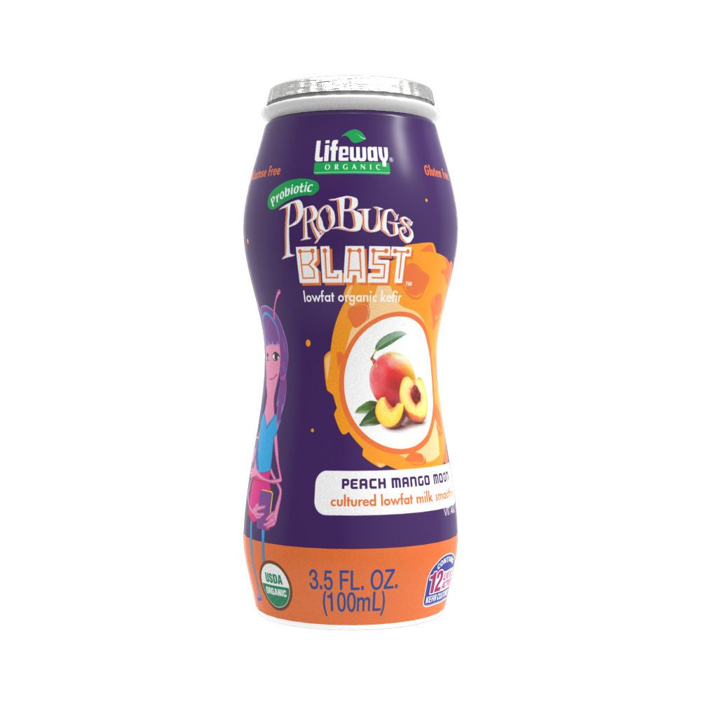 Lifeway ProBugs Blast Peach Mango, 3.5 Oz (Pack of 6)