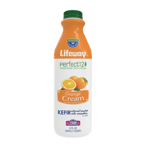 Lifeway Perfect 12 Orange Cream, 32 Oz (Pack of 6)