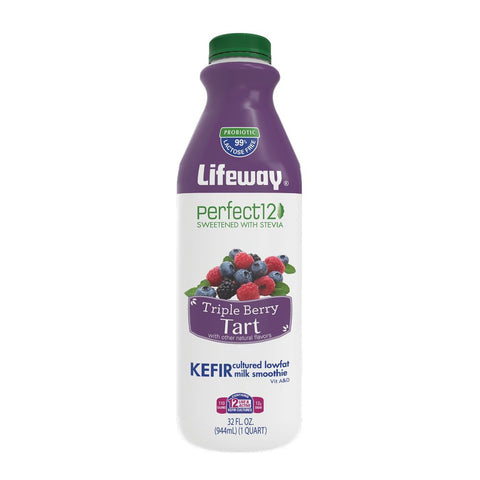 Lifeway Perfect 12 Triple Berry Tart, 32 Oz (Pack of 6)