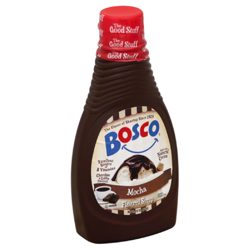 Bosco Mocha Flavored Syrup, 15 Oz (Pack of 6)