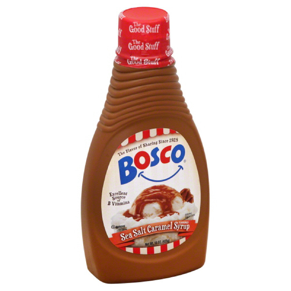Bosco Sea Salt Caramel Flavored Syrup, 15 Oz (Pack of 6)