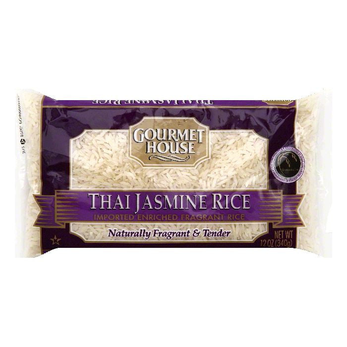 Gourmet House Thai Jasmine Rice, 12 OZ (Pack of 12)