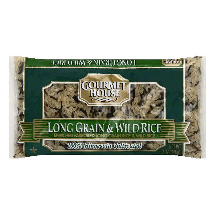 Gourmet House Long Grain & Wild Enriched Rice, 12 OZ (Pack of 12)