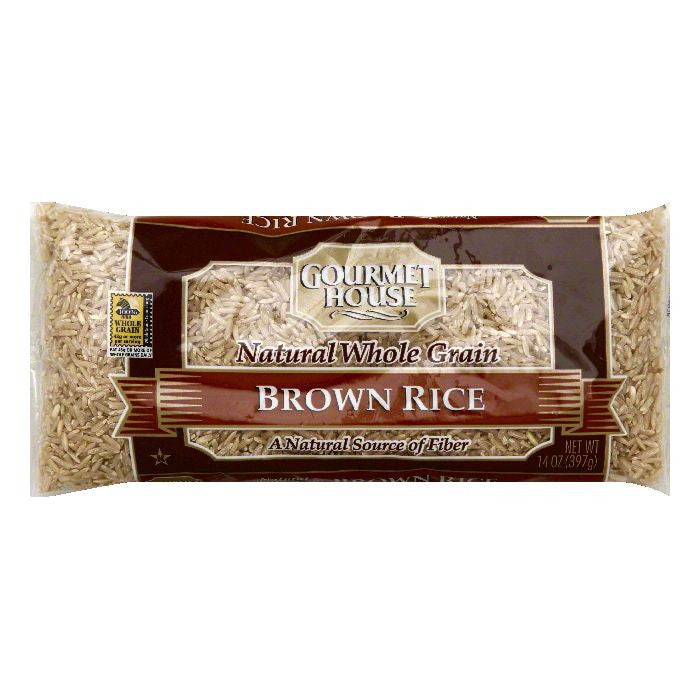 Gourmet House Natural Whole Grain Brown Rice, 14 OZ (Pack of 12)