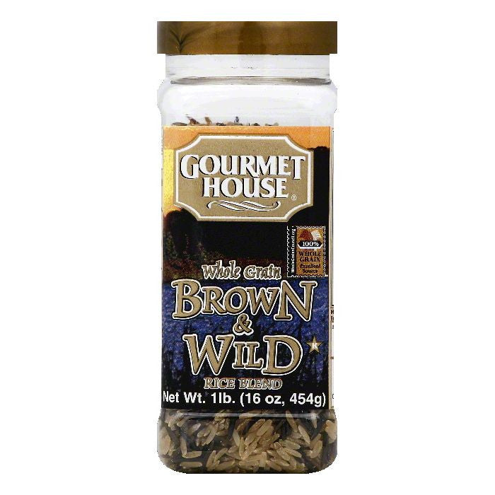 Gourmet House Brown & Wild Whole Grain Rice Blend, 16 OZ (Pack of 6)