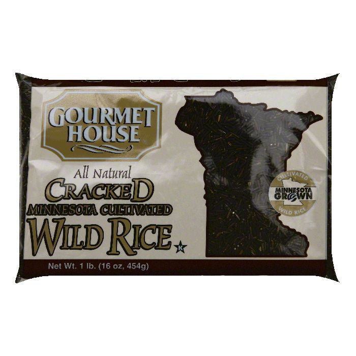 Gourmet House Minnesota Cultivated Cracked Wild Rice, 16 OZ (Pack of 12)