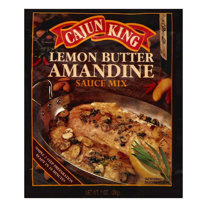 Cajun King Lemon Butter Amandine Sauce Mix, 1 OZ (Pack of 24)