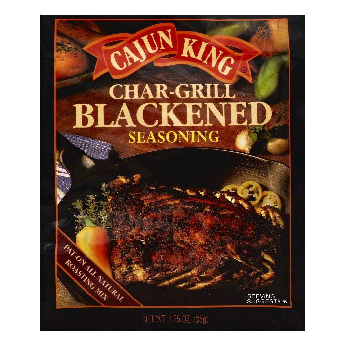 Cajun King Char-Grill Blackened Seasoning, 1.25 OZ (Pack of 24)