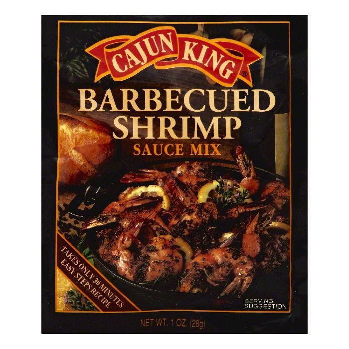 Cajun King Barbecued Shrimp Sauce Mix, 1 OZ (Pack of 24)