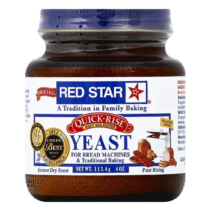 Red Star Quick-Rise Yeast, 4 OZ (Pack of 12)