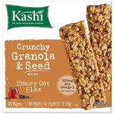 Kashi Honey Oat Flax Crunchy Granola & Seed Bars 10 ct  (Pack of 12)
