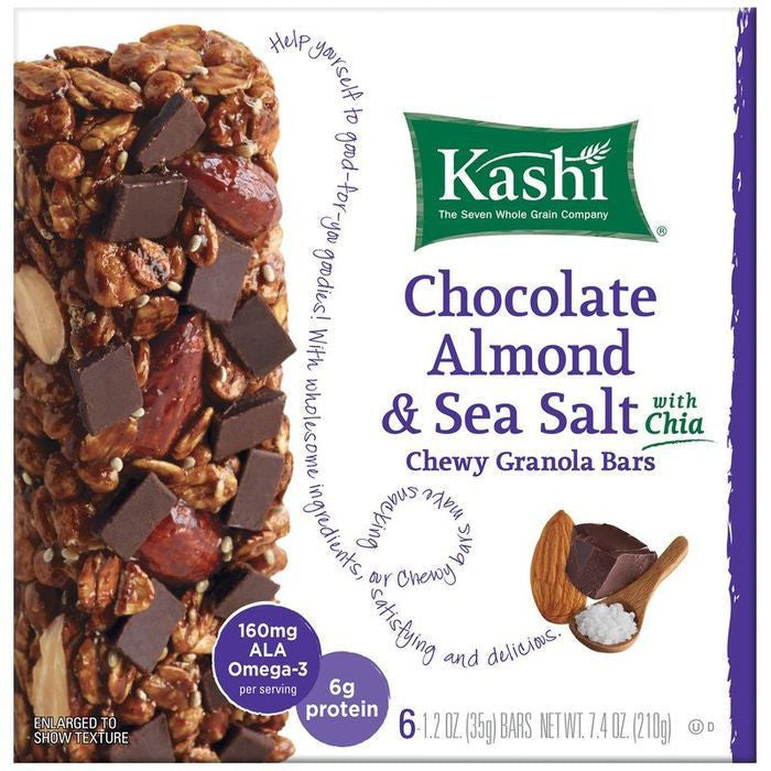 Kashi Chocolate Almond & Sea Salt with Chia Chewy Granola Bars 6 ct  (Pack of 12)